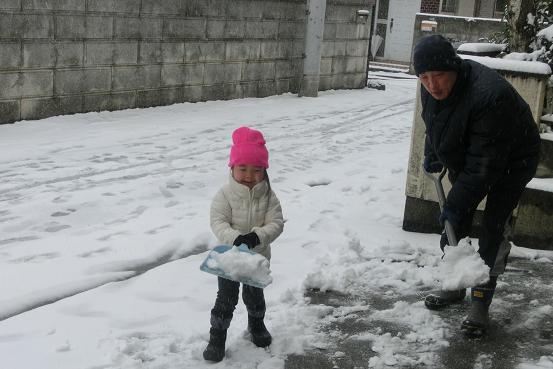 雪かき作業