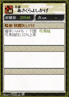 騎射 狭間矢LV10-1