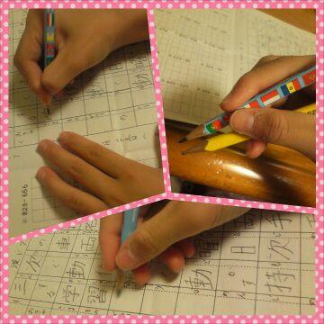 鉛筆は、正しく持ちましょう♬