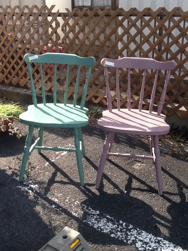 ウィンザーチェア ペイント家具 椅子 シャビーシック