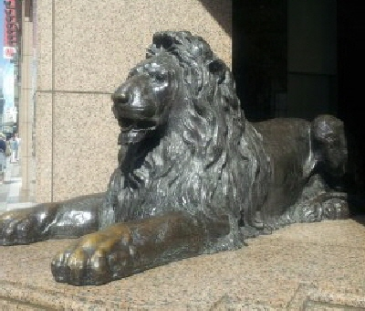 横ライオン