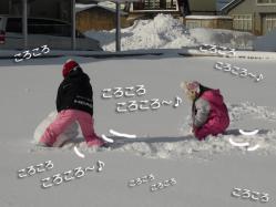 雪ダルマ③