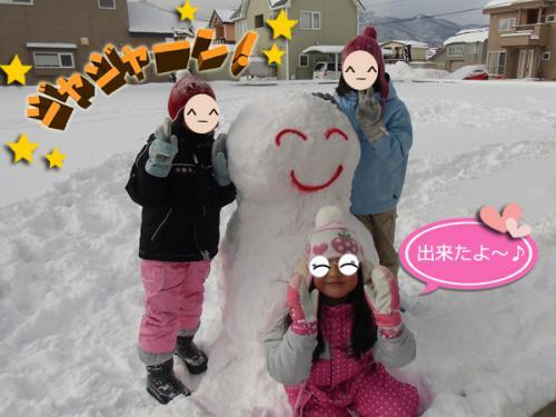 雪ダルマ⑥