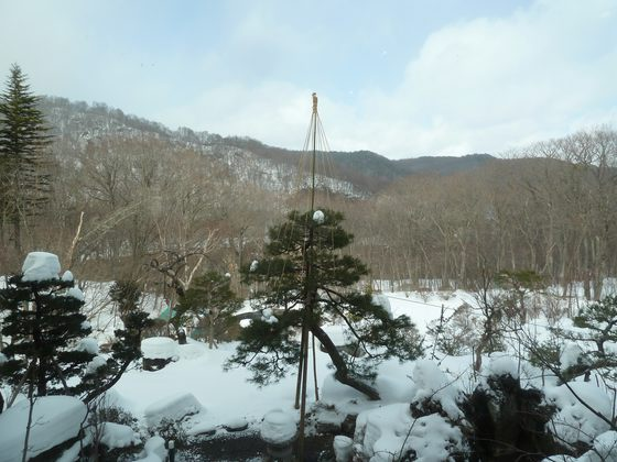 五峰荘ラウンジからの眺め