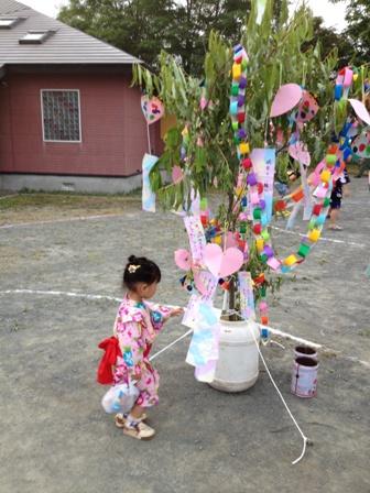 幼稚園の七夕まつり