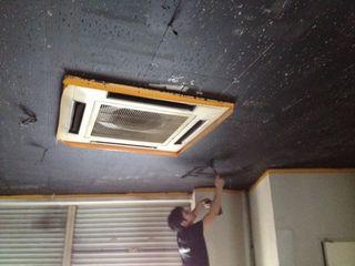 OVAL天井塗装1