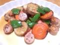長芋とにんじんの炒め物 20140205