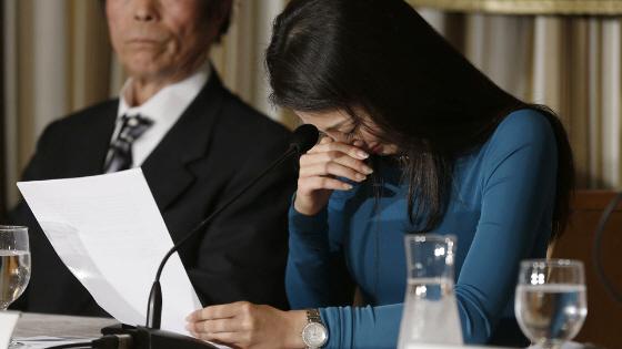 ミス・インターナショナル吉松育美さん 特派員協会で「涙の訴え」(決死の訴え)