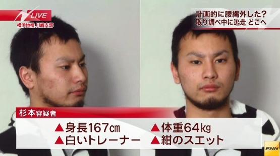 逃走中の杉本裕太(20)は167センチ、中肉中背。しばき隊・山口祐二郎の友人