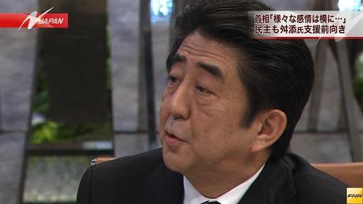 東京都知事選 安倍首相、自民党の「舛添氏支援」を容認する姿勢