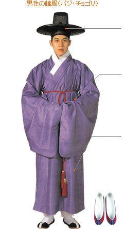 韓国の男性民族衣装