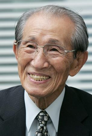 小野田寛郎さん=2008年6月20日、東京・大手町(中井誠撮影)