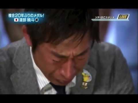 渡部暁斗銀メダルに感泣する荻原次晴