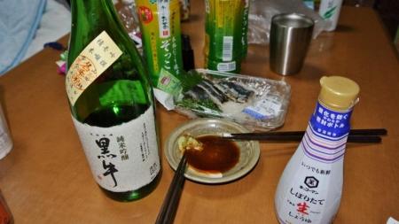 食14_110_25 サンマ刺身と酒