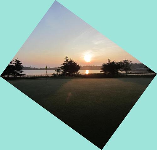 清々しい朝です 飯綱東高原