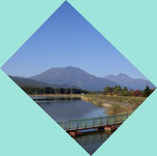 霊仙寺湖から