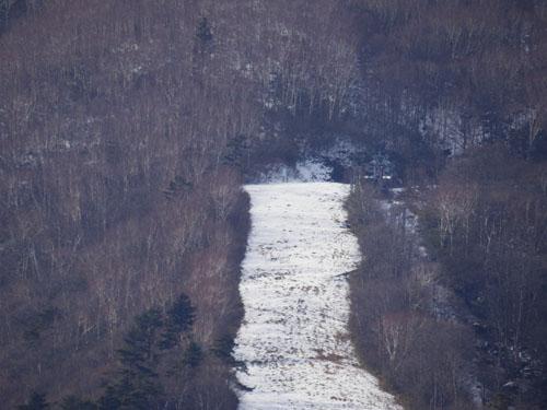 第四リフト 山頂付近