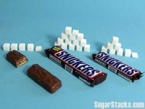スニッカーズは砂糖菓子