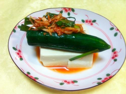 オイキムチ豆腐