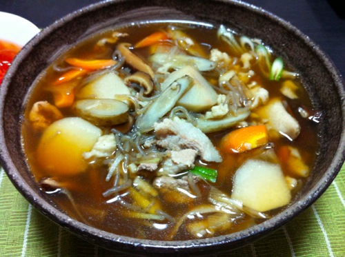 そばがきスープアップ