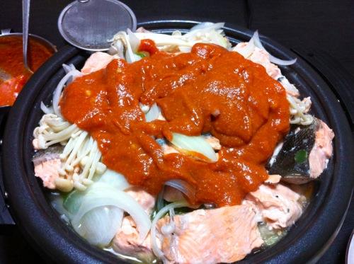 トマトピューレと味噌