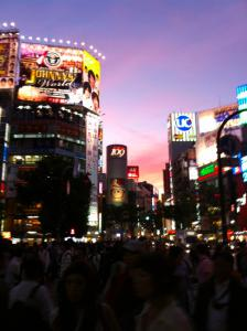 渋谷の夕焼け