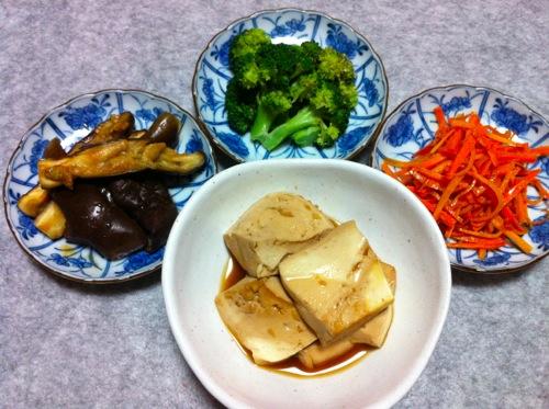 ナムル3品&豆腐