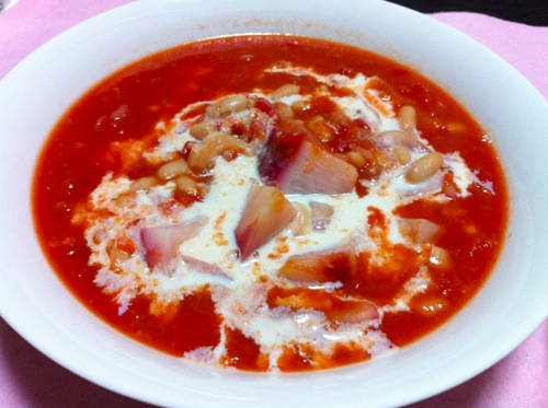トマト・豆乳ノンオイルスープ