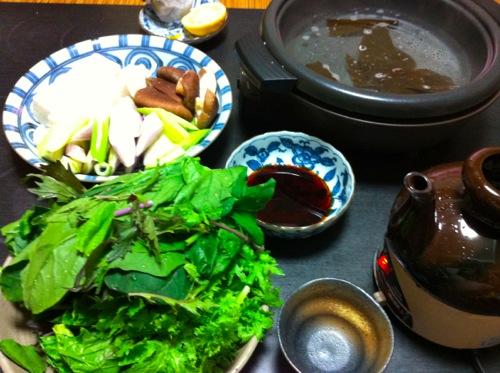 野菜湯豆腐