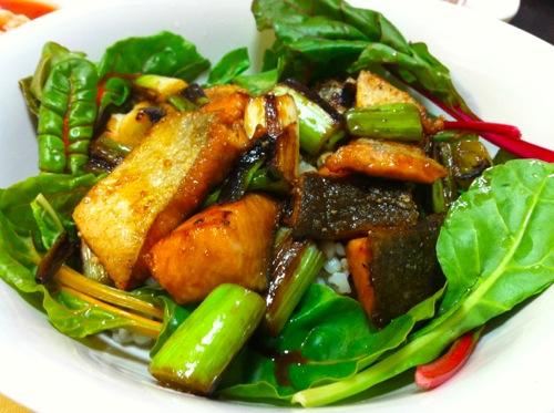 秋鮭サラダご飯