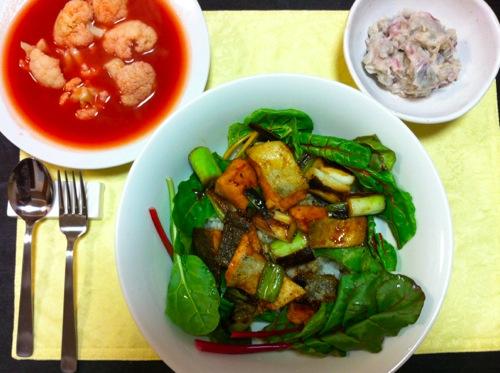 秋鮭のサラダディナー