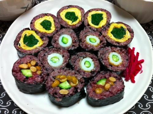 古代米のり巻き皿