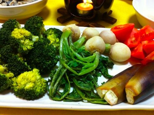 フォンデュ野菜