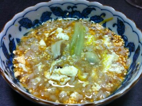 ポン酢玉雑炊