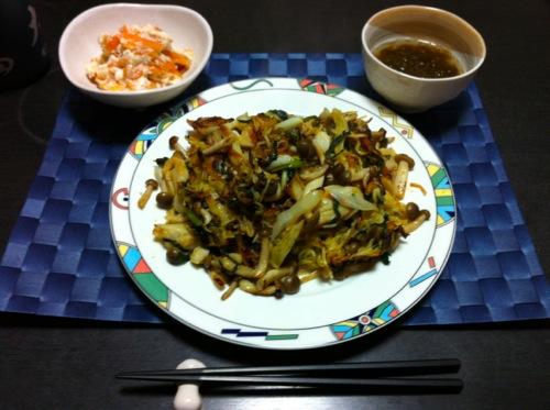 粟麺のタイ風焼きそば