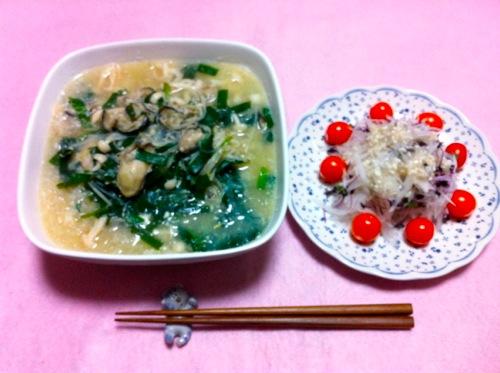 牡蠣豆乳春雨スープセット