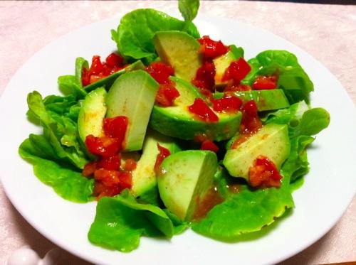 アボカドサラダトマトドレ