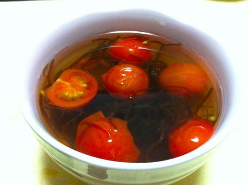 トマトのお吸い物