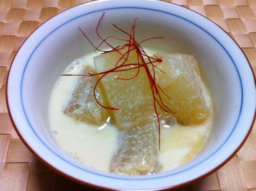 冬瓜の豆乳スープ煮