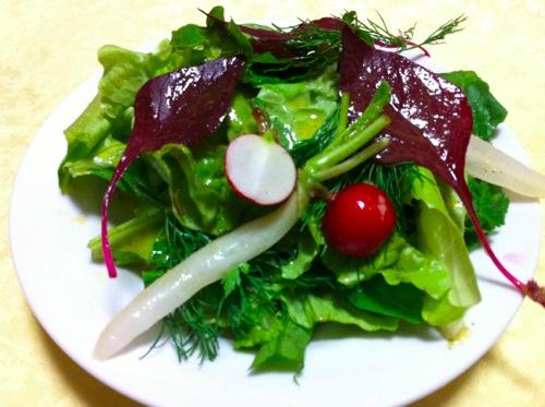 亜麻仁油のすっぱいサラダ