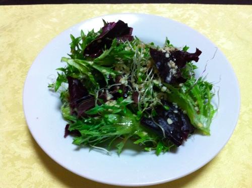 川田農園のサラダ