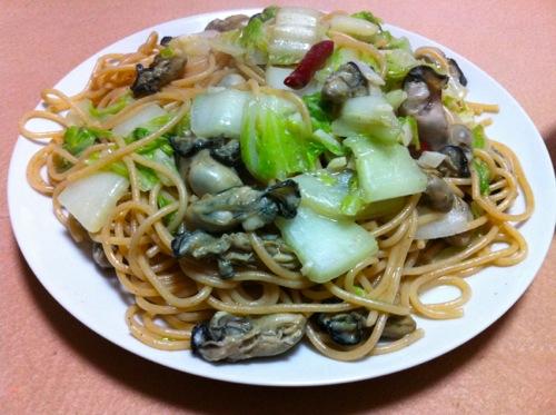 白菜と牡蠣のパスタ単品