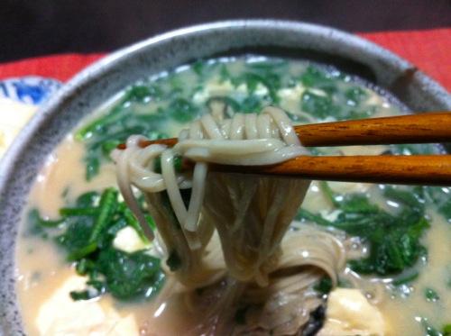 3牡蠣蕎麦箸アップ
