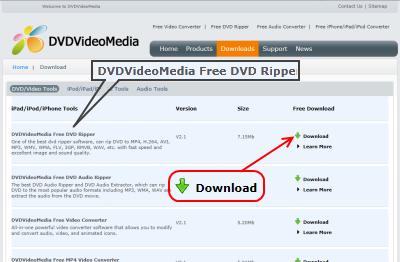 DVDVideoMedia Free DVD Ripper ダウンロード
