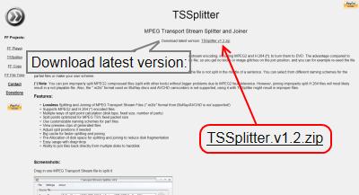 TSSplitter ダウンロード
