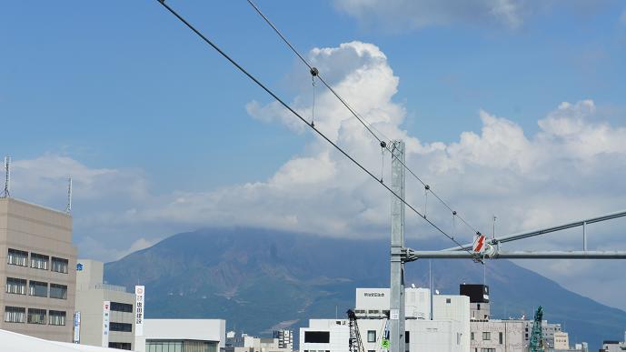 鹿児島中央駅からの桜島