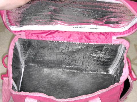 JAの「ちょきんぎょひんやりバッグ」 内側
