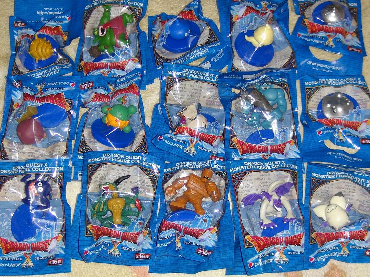 スクエニの「ドラゴンクエストX モンスターフィギュアコレクション」 梱包(おにこんぼう以外)