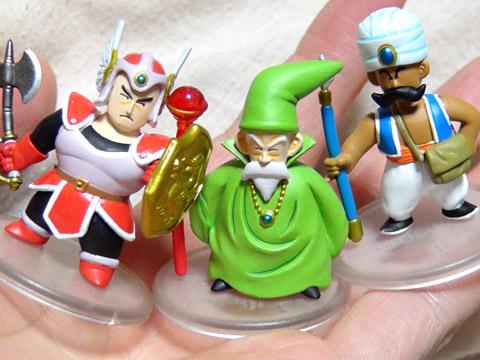 スクエニの「ドラゴンクエスト キャラクターフィギュア」 男戦士と男魔法使いと男商人