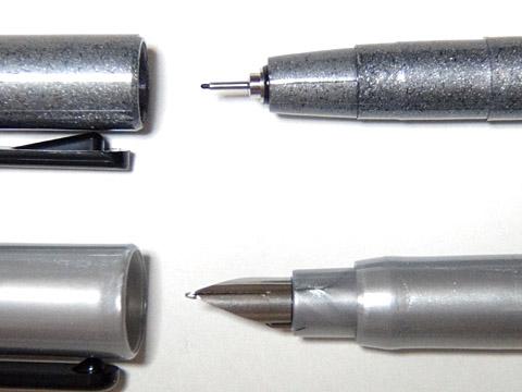 TOOの「コピック・マルチライナー単色B2セット」と「コピック・ドローイングペンF02(太書ブラック)」 ペン先